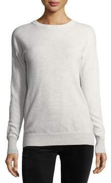 Autumn Cashmere Long-Sleeve Crossover-Back Sweater w/ Velvet Tie