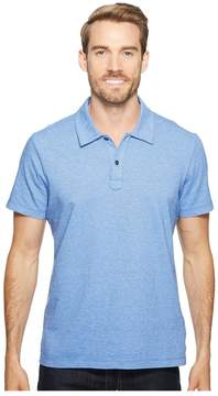 Agave Denim Short Sleeve Polo Italian Pique in Chambray Men's Clothing
