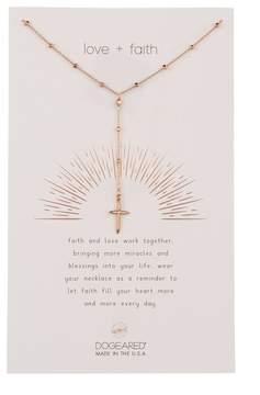 Dogeared Love & Faith Rosary Cross Y-Drop Necklace