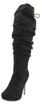 Thalia Sodi Brisa Women Round Toe Canvas Black Knee High Boot.