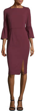 Donna Morgan Women's Solid Squareneck Dress