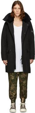 11 By Boris Bidjan Saberi Black Hooded Coat