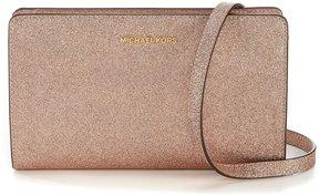 MICHAEL Michael Kors Large Glitter Cross-Body Bag - ROSE GOLD - STYLE