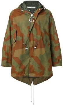 Off-White camouflage rain coat