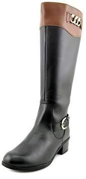 Karen Scott Darlaa Wide Calf Women Round Toe Synthetic Black Knee High Boot.
