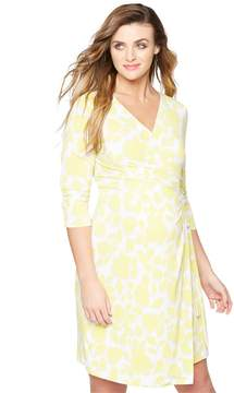 A Pea in the Pod Floral Maternity Wrap Dress