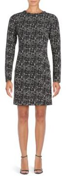 Collective Concepts Marled Long Sleeve Sheath Dress