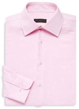 Ike Behar Regular-Fit Textured Cotton Shirt