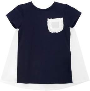 Il Gufo Cotton Jersey & Poplin Dress