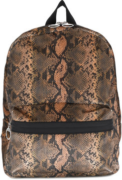 Mm6 Maison Margiela reptile skin print backpack