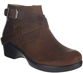 Alegria As Is Leather Ankle Boots w/ Strap Details - Eva
