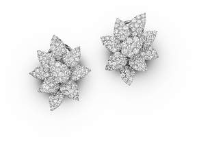 Bloomingdale's Diamond Cluster Flower Stud Earrings in 14K White Gold, 3.50 ct. t.w. - 100% Exclusive