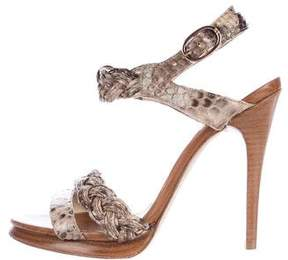Alexandre Birman Platform Snakeskin Sandals