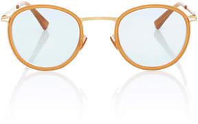 Mykita Antii Acetate and Gold-Tone Round-Frame Sunglasses