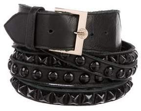 B-Low the Belt Leather Embellished Belt