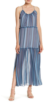 Finders Keepers Marconi Printed Ruffle Maxi Dress