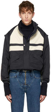 Martine Rose Navy Panelled Sports Jacket