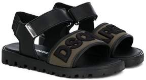 DSQUARED2 logo strap open toe sandals