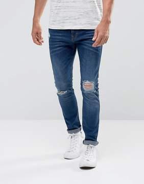 Esprit Jeans In Skinny Fit Stretch Denim With Rip Knee