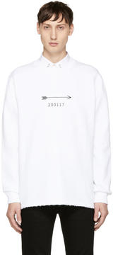 Givenchy White Arrow and Show Date Sweatshirt