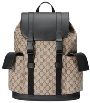 Gucci Men's Eden Flap Top Canvas Backpack - Beige