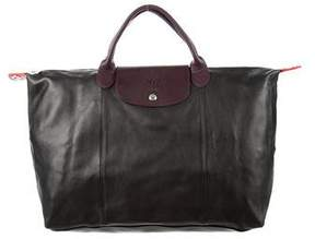 Longchamp Leather Le Pliage Bag