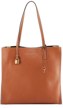 Marc Jacobs The Grind Pebbled Shopper Tote Bag - SADDLE - STYLE
