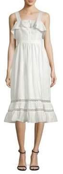 Shoshanna Valery Flounce Midi Dress