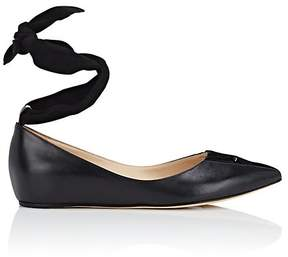 Repetto WOMEN'S LEATHER ANKLE-TIE BALLET FLATS