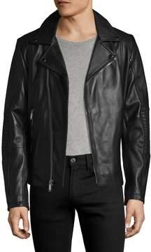Karl Lagerfeld Men's Leather Moto Jacket