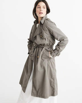 Abercrombie & Fitch Twill Trench Coat
