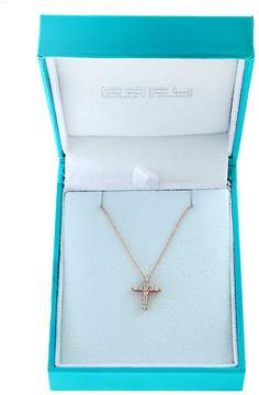 Effy Women's Super Buy 15K Rose Gold and Diamonds Cross Pendant Necklace