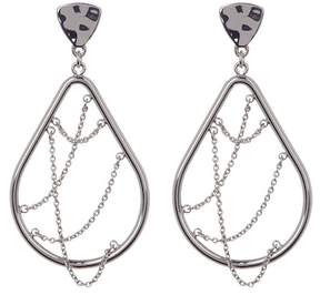 BaubleBar Teardrop Chain Hoop Earrings