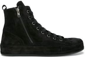 Ann Demeulemeester Black Suede Hi Top Sneakers