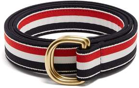 Thom Browne Striped D-ring canvas belt