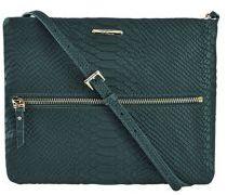 GiGi New York Python-Embossed Leather Crossbody Bag