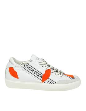 Leather Crown Sneakers w Kisslow 2 In White Leather