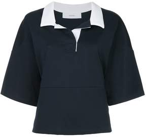 ASTRAET contrast-collar blouse