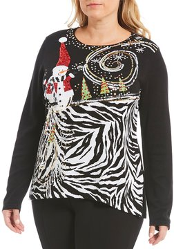 Berek Plus Snowman Festive Winter Sweater
