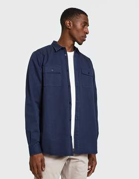 Norse Projects Villads Twill Shirt in Navy