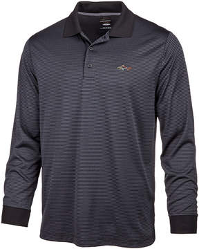 Greg Norman For Tasso Elba Men's Heathered Striped Long-Sleeve Polo, Created for Macy's