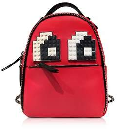 Les Petits Joueurs Women's Red Leather Backpack.