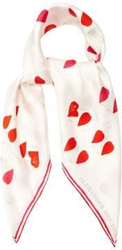 Alexander McQueen Petal-print silk scarf