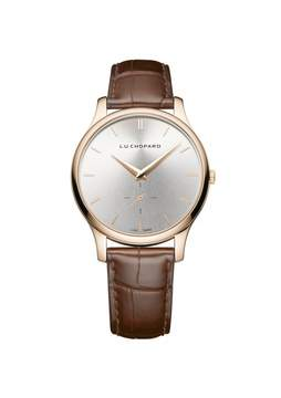 Chopard L.U.C. XPS Silver Dial 18kt Rose Gold Brown Leather Ladies Watch