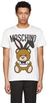 Moschino White Playboy Teddy Bear T-Shirt