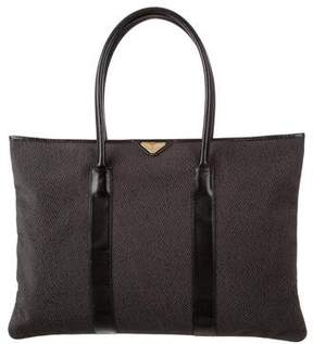 Saint Laurent Leather-Trimmed Large Tote