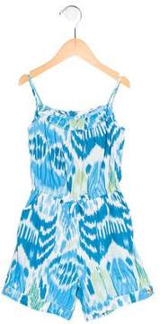 Oscar de la Renta Girls' Ikat Sleeveless Romper