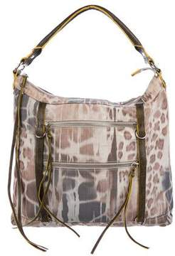 MZ Wallace Leather-Trimmed Woven Satchel