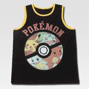 Pokemon Boys' Tank Top - Black