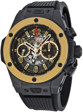 Hublot Big Bang Unico Magic Automatic Gold Skeleton Dial Black Rubber Men's Watch 411CM1138RX